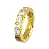 Alliancesring i guld 1.25 ct